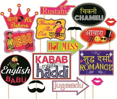 party props set of 16 funny wedding party themes at rs 199 set