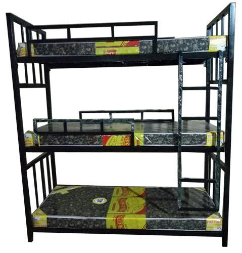 Own Manufacturing 48 X 72 Metal Steel Three Tier Bunk Bed Rs