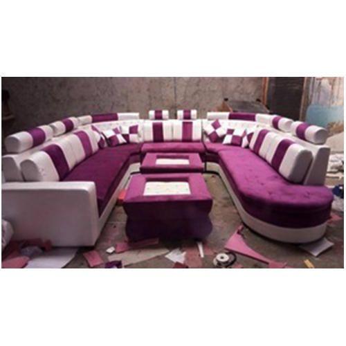 Wood White Purple U Shaped Sofa Set Rs 5000 Feet Purport