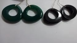 Black and Green Onyx Heart, Trillion Shape Carved, Carving Fancy Shape Calibrated Loose Gemstone