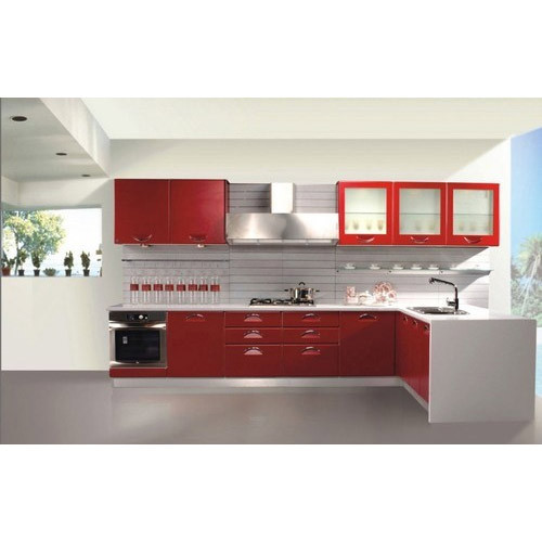 Modular Kenya Project Simple L Shaped Small Kitchen: Straight Modular Kitchen Manufacturer