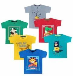 Hosiery Multicolor Cotton T-Shirt Half Sleeves, Age Group: 6 Months To 3 Years