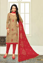 Ladies Embroidery Work Dress Material