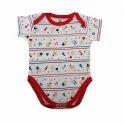 White Printed Baby Fancy Vest Bodysuit