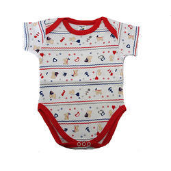 72d6b7270d78 Magic Train Cotton White Printed Baby Fancy Vest Bodysuit