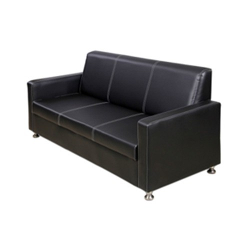 Nicewood Black Leather Office Visitor Sofa