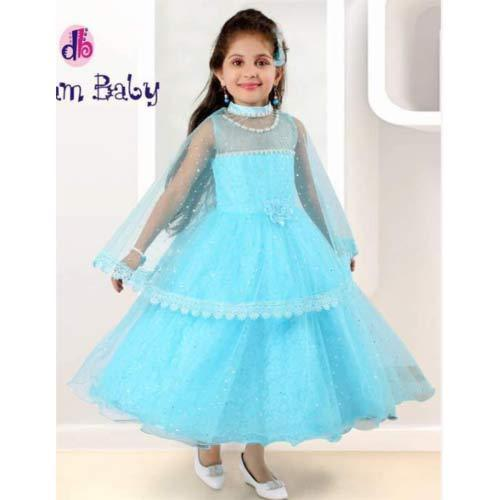 Party Wear Kids Gown With Poncho Size Medium Rs 1695 Piece Id