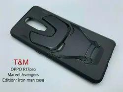 Black Plastic Oppo R17 Pro Mobile Back Cover