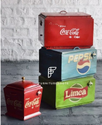 Hand Painted Indian Furniture - Vintage Pepsi Cooler