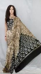 Bengal Pure Cotton Hand Batik Print Saree