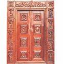 Brown Exterior Mt150 Engraved Entrance Door, For Home, Hotel Etc