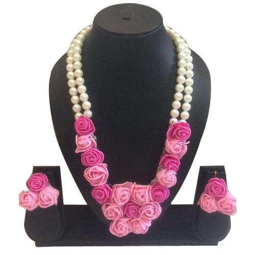 Artificial Pink Flower Necklace Set At Rs 500 Set Raghunathgarh