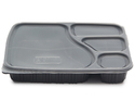 Plastic Meal Tray White Disposable 4 Compartments