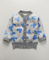 Kidofash Mickey Design Cardigan