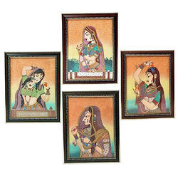 Glossy Wooden Gems Stone Painting Frame