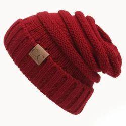 751693f1b0b Maroon Trendy Warm Cap