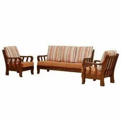 Brown Modern Wooden Sofa Set, Size/Dimension: 22-26 Inch (Height)