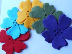 Die Cut Felt Flower