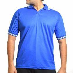 Men's Polo Neck Blue Stylish T-Neck
