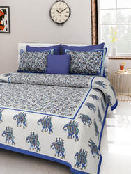 Elephant Printed Cotton Bed Sheet