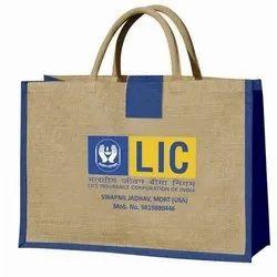 Brown Printed promotional jute bags
