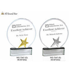 Glass All Round Star Trophies