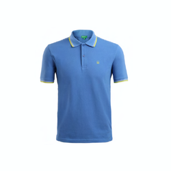 Sky Blue Matty Corporate Polo T-shirt With Tipping, Size: S, M, L, Xl