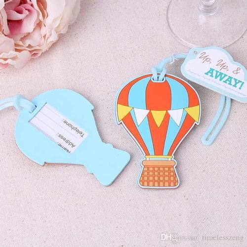 European Style Wedding Thank You Gifts Of Plastic Fire Balloon Luggage Tag