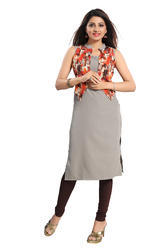 ALC Creations Women''s Faux Crepe Straight Kurti