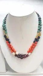 Navaratnas  Navagraha Nine 9 Gems  Jewelry Design Two String Necklace Set