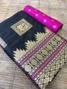 Banarasi Silk Saree With Unstitched Blouse Piece