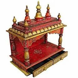 Craftkriti 24 inch Handcrafted Wooden Temple