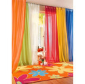 Plain Silk Designer Curtain