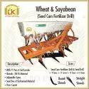 Mild Steel Wheat & Soyabean Fertilizer Drill, For Agriculture