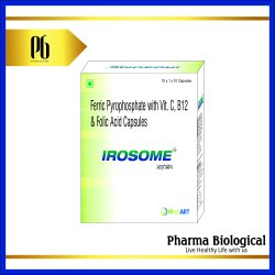 Irosome Ferric Pyrophosphate With Vitamin C, B12 And Folic Acid Capsules