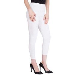 Cotton Straight Fit Ladies White Legging
