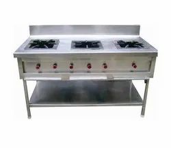 Commercial Three Burner Cooking Range