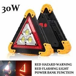 LED Aluminum alloy, Plastic Triangle Emergency Warning Light, Mounting Type: Table Top, 30 W