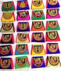 Assorted Cotton Embroidery Hand Bag, For Shopping,Grocery
