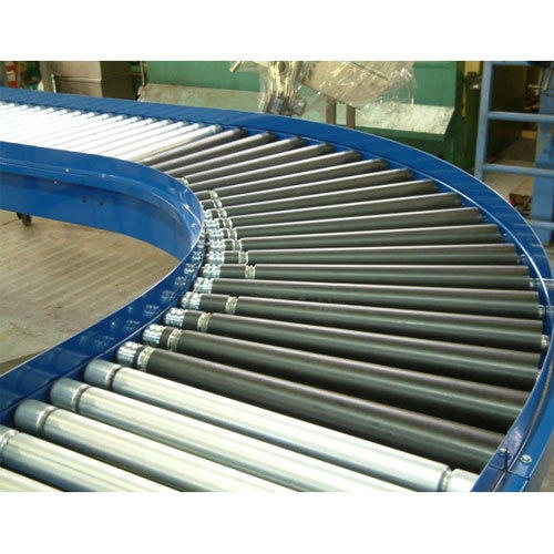 Stainless Steel, Rubber Roller Conveyor