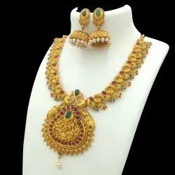 Antique Gold Plated Jewellery Set - D 5026 ANT