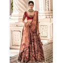 Wedding Bridal Heavy Work Maroon And Golden Lehenga