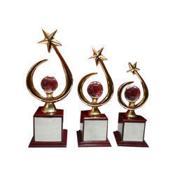 Star Golden Brass Trophy