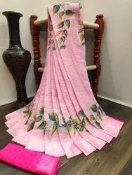 Designer Cotton Satin Indian Wear Saree