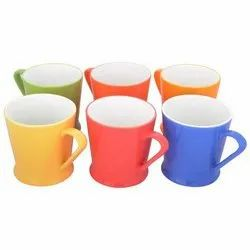 Solid Clay Craft Multicolor Tea Cup - Set Of 6