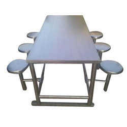 Stainless Steel 6 Seater Dining Table, Shape: Rectangular