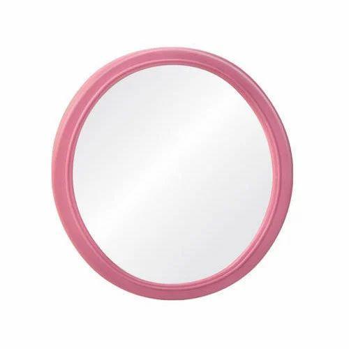 Pink Round Bathroom Mirror Frame, Rs 60 /piece, Honesty Plastics ...