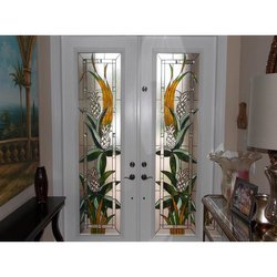 Hinged Decorative Glass Door, For Office, Thickness: 12 Mm