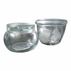 Round Glass Bowl With Lid