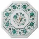Indian White Marble Pietra Dura Dining